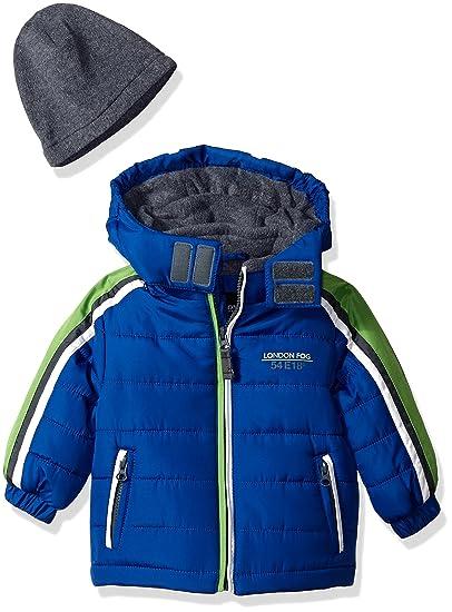 5bc9a7842 Amazon.com  London Fog Baby Boys Active Heavyweight Jacket with Ski ...