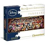 Clementoni 39347 - Puzzle Panorama, Disney Collection, 1000 Pezzi, Multicolore