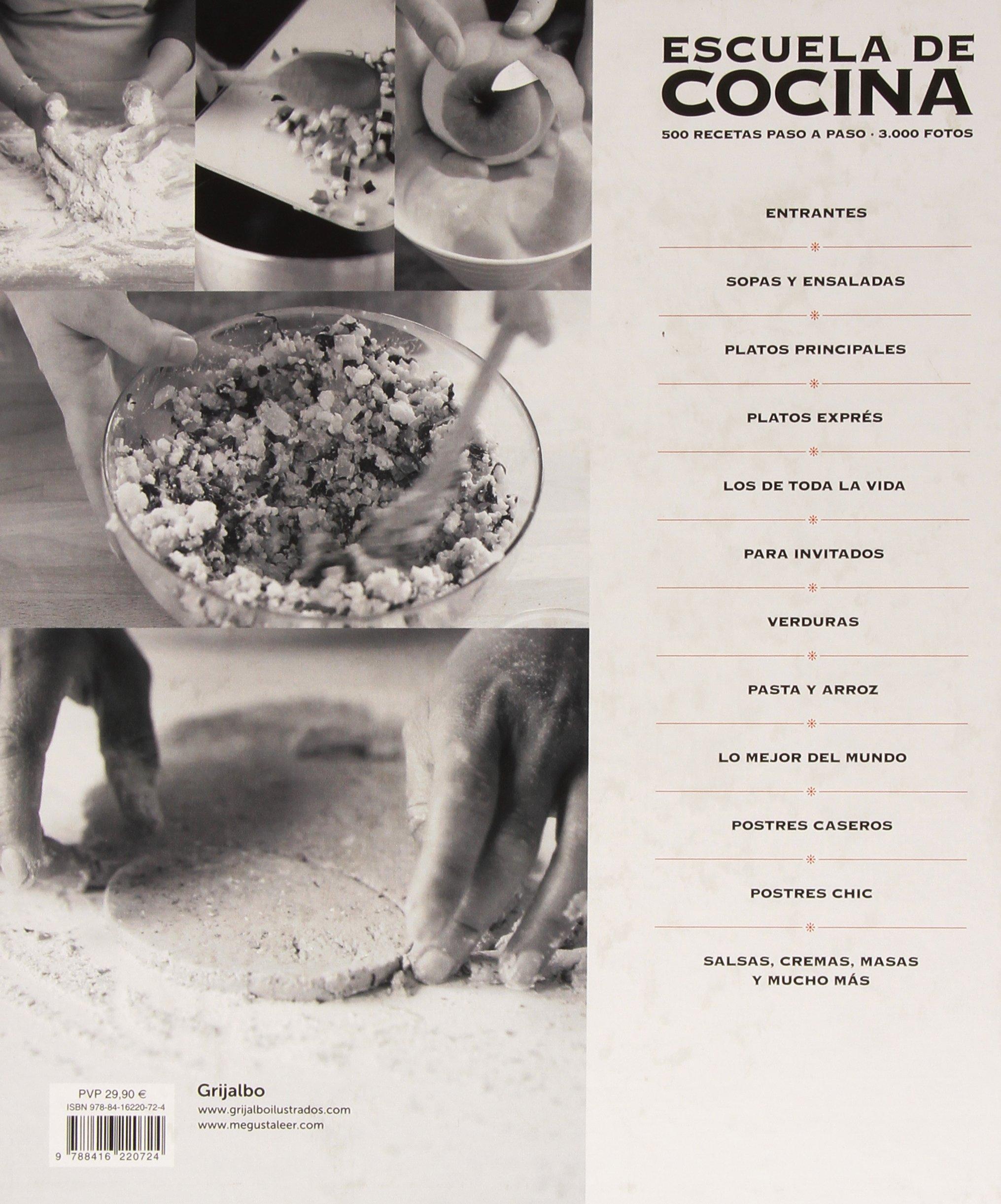 Escuela de cocina (edición actualizada): 500 recetas paso a paso - 3000 fotos (Spanish Edition): Varios autores: 9788416220724: Amazon.com: Books