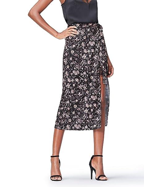 mitad de descuento 81645 b13a5 Marca Amazon - find. Falda Con Estampado de Flores para Mujer
