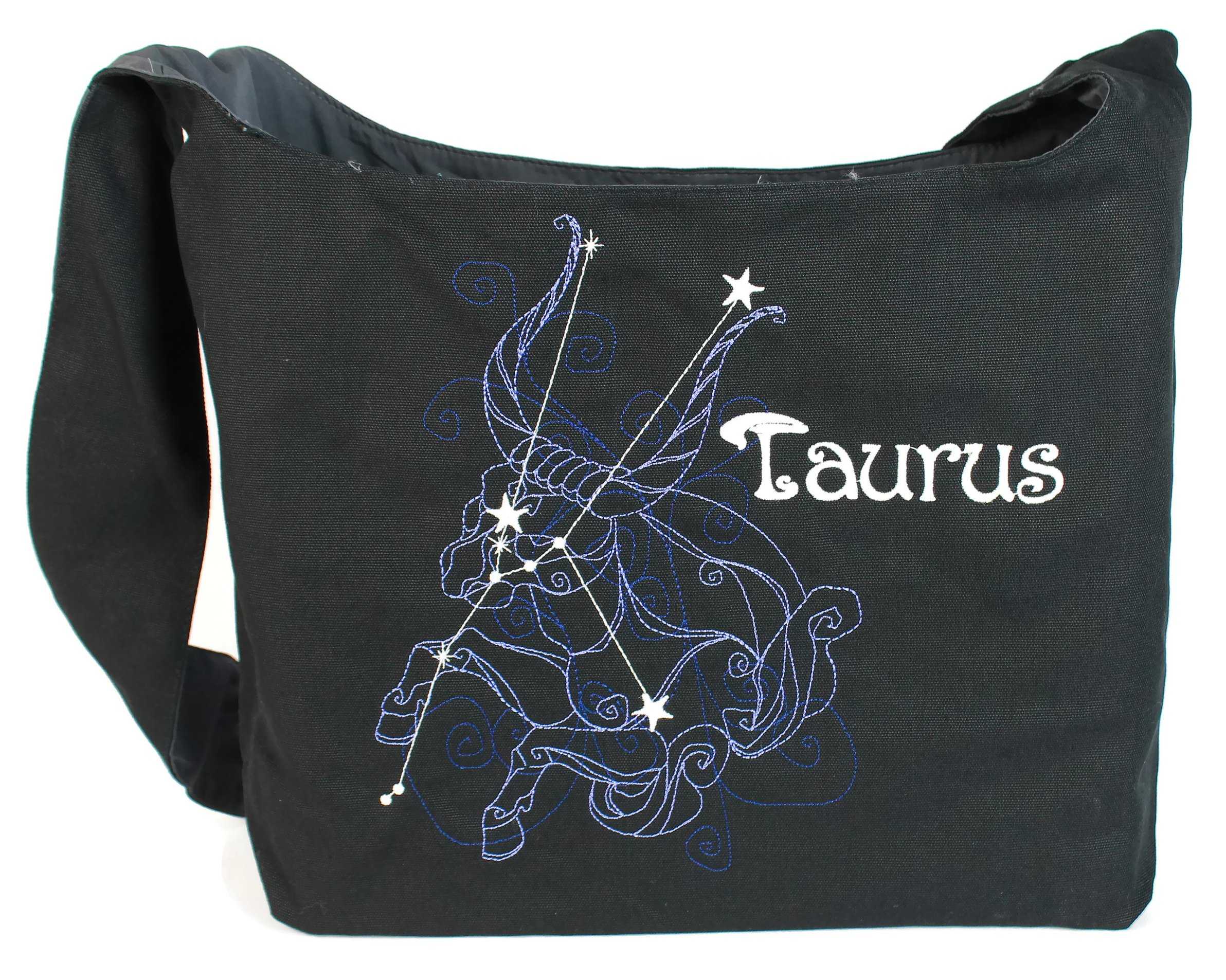 Dancing Participle Taurus Embroidered Sling Bag