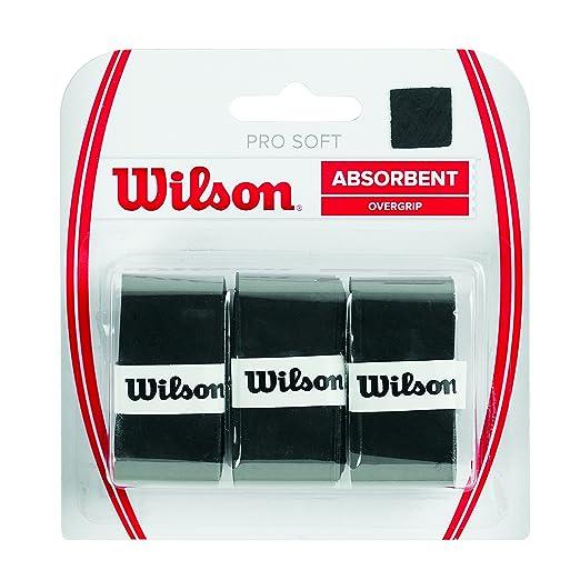 31 opinioni per Wilson Pro Soft Overgrip Bk Manico da Racchetta, Nero, Taglia Unica