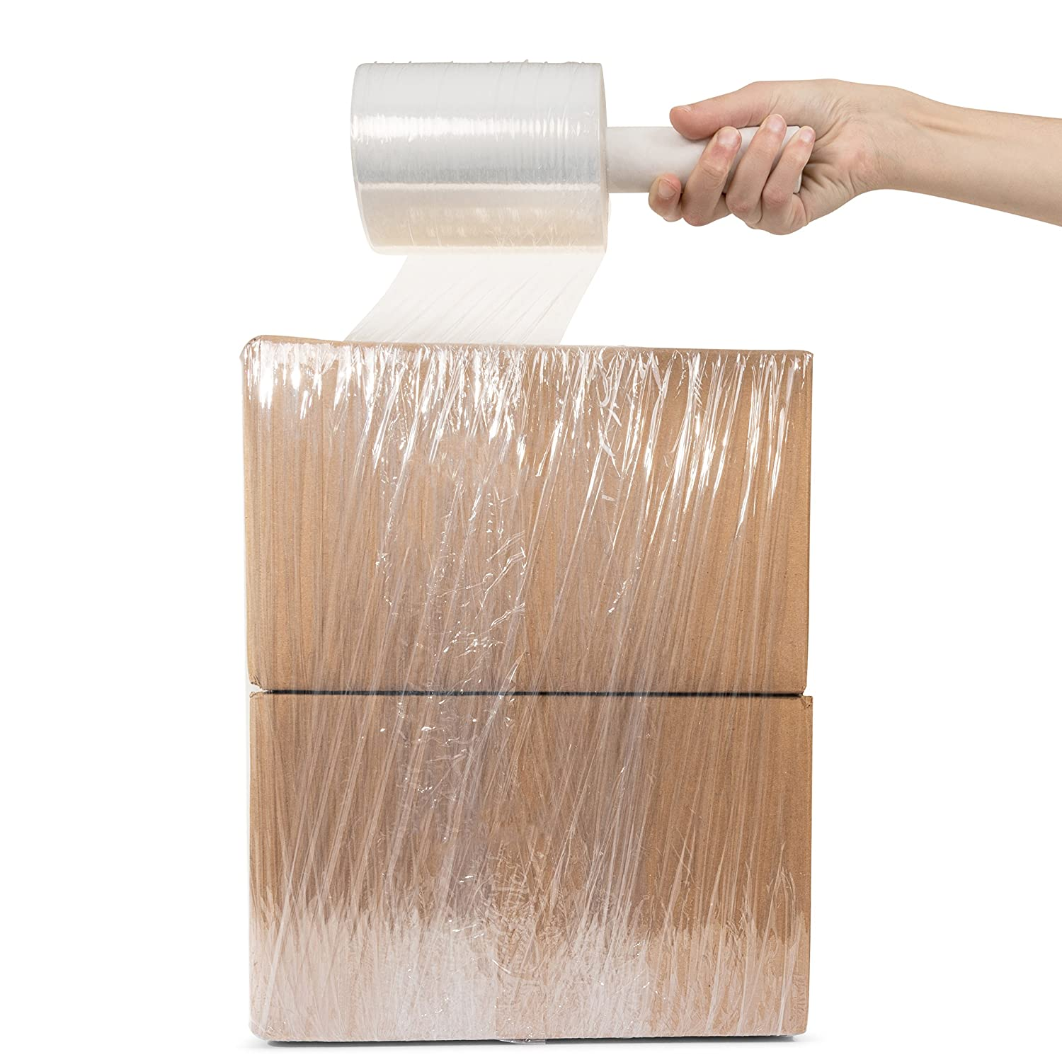 80 Gauge Extra Thick Pallets Packing Wrap Mini Hand Plastic Wrap Moving Boxes Industrial Strength Clear Plastic Pallet Shrink Film Furniture Stretch WRAP Self-Dispense 5 x 1000 Roll