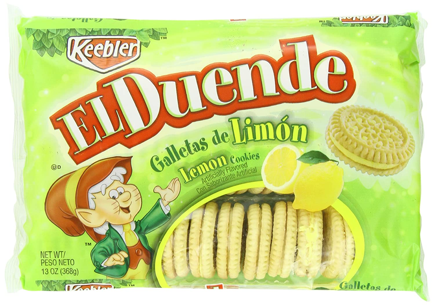 Amazon.com: Keebler El Duende Sandwich Cookies, Lemon, 13 Ounce ...