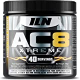 AC8 Xtreme Pre Workout - Tropical Blast - High in B12 with Creatine, Taurine and Beta-Alanine - UK Made Pre-Workout Supplement - 300 grams, 40 Servings