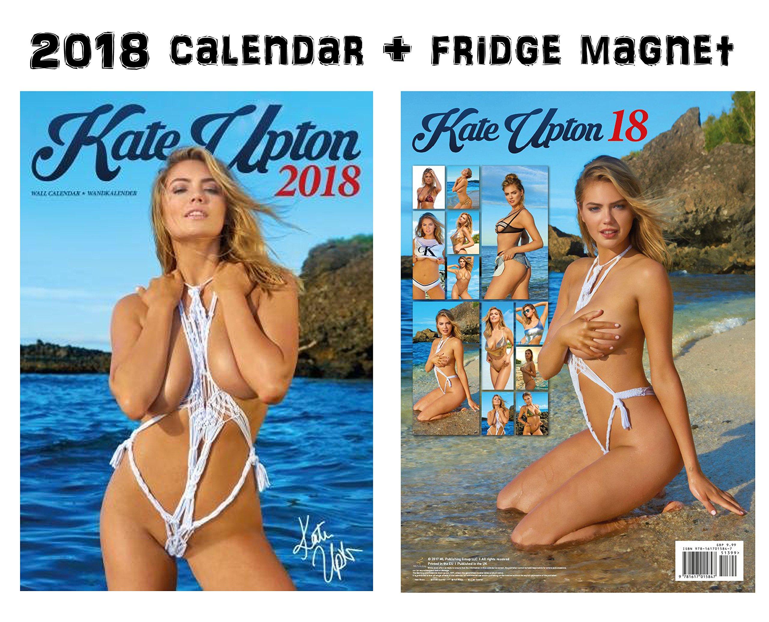KATE UPTON 2018 CALENDAR + KATE UPTON FRIDGE MAGNET by ML PUBLISHING GROUP LLC