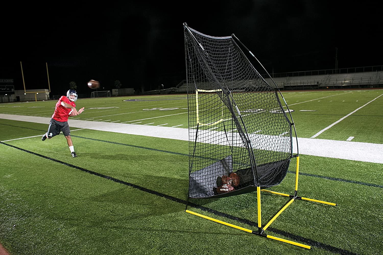 6616546b2 Amazon.com   SKLZ Quickster 4-in-1 Multi-Skill Football Training Net    Football Kicking Cages   Sports   Outdoors