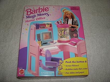 Amazon Com Barbie Magic Moves Home Office 1995 Mattel Toys Games