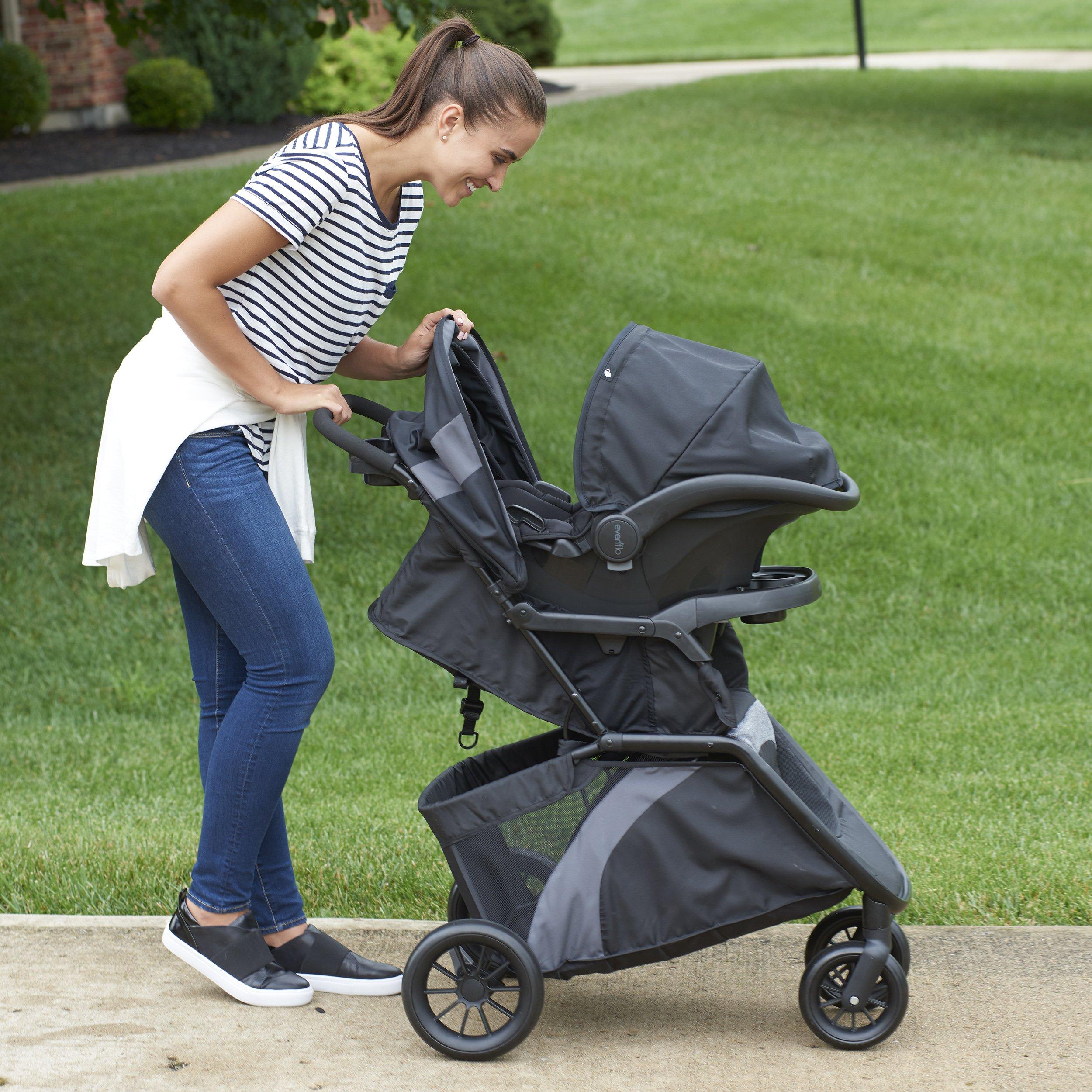 Evenflo Advanced SensorSafe Epic Travel System with LiteMax Infant Car Seat, Jet by Evenflo (Image #6)
