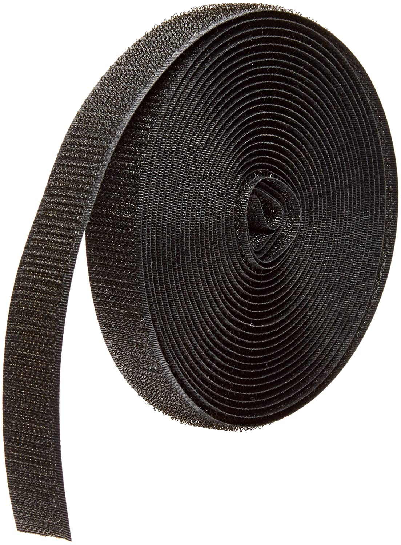 VELCRO 1006-AP-PB//H Black Nylon Woven Fastening Tape 2 Wide Standard Back Sew-On Hook Only 15 Length