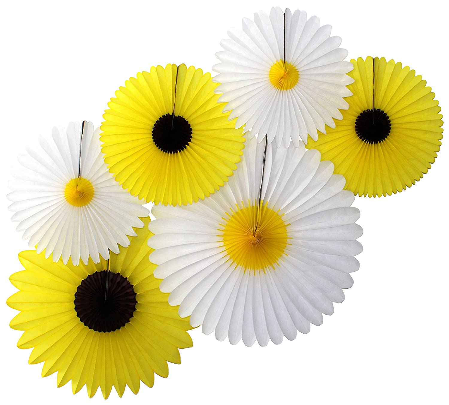 Amazon Daisies And Sunflowers Set Of 6 Tissue Paper Party