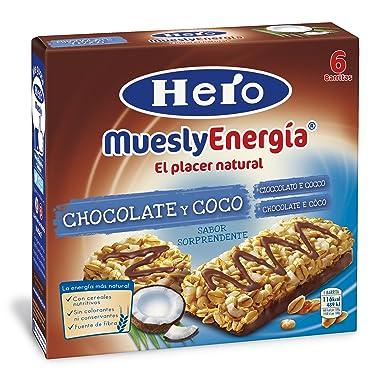 Hero - Barrita de cereales con coco y chocolate con leche, 6x25g