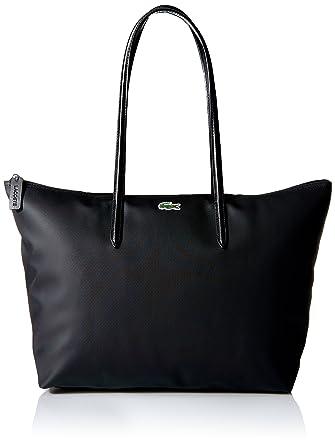 dae879fcee0 Amazon.com: Lacoste L.12.12 Tote Bag, Black: Clothing