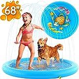 "(68"") Inflatable Splash Pad Sprinkler for Kids Toddlers, Kiddie Baby Pool, Outdoor Games Water Mat Toys - Baby Infant…"