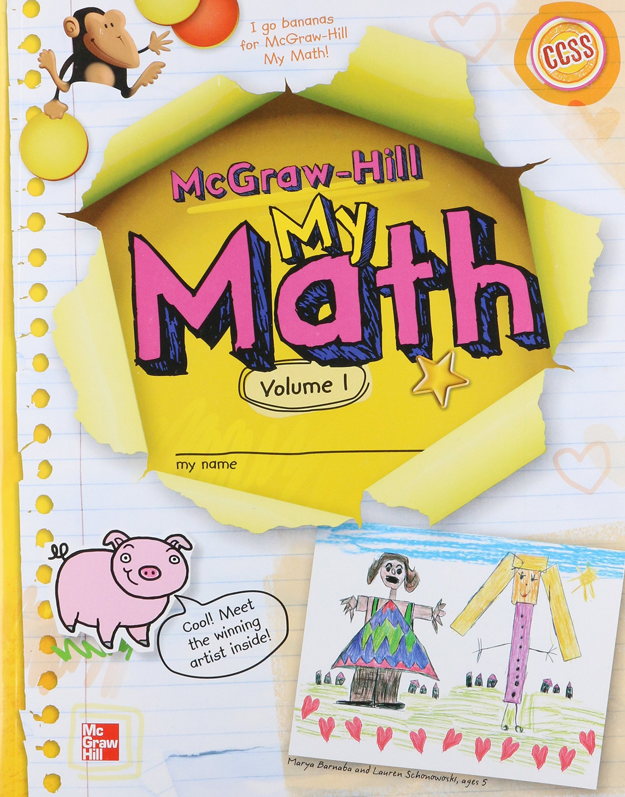 My Math Grade K, Vol  1 (Mcgraw-hill My Math): Inc  McGraw