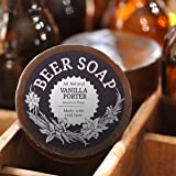 Beer Soap (Vanilla Porter) - All Natural + Made in USA - Actually Smells Good! Perfect Gift For Beer Lovers