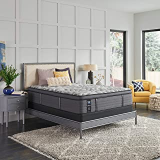 product image for Sealy Posturepedic Plus, Euro Pillow Top 14 Medium Mattress with AllergenProtect and 5-Inch Foundation, Queen, Grey