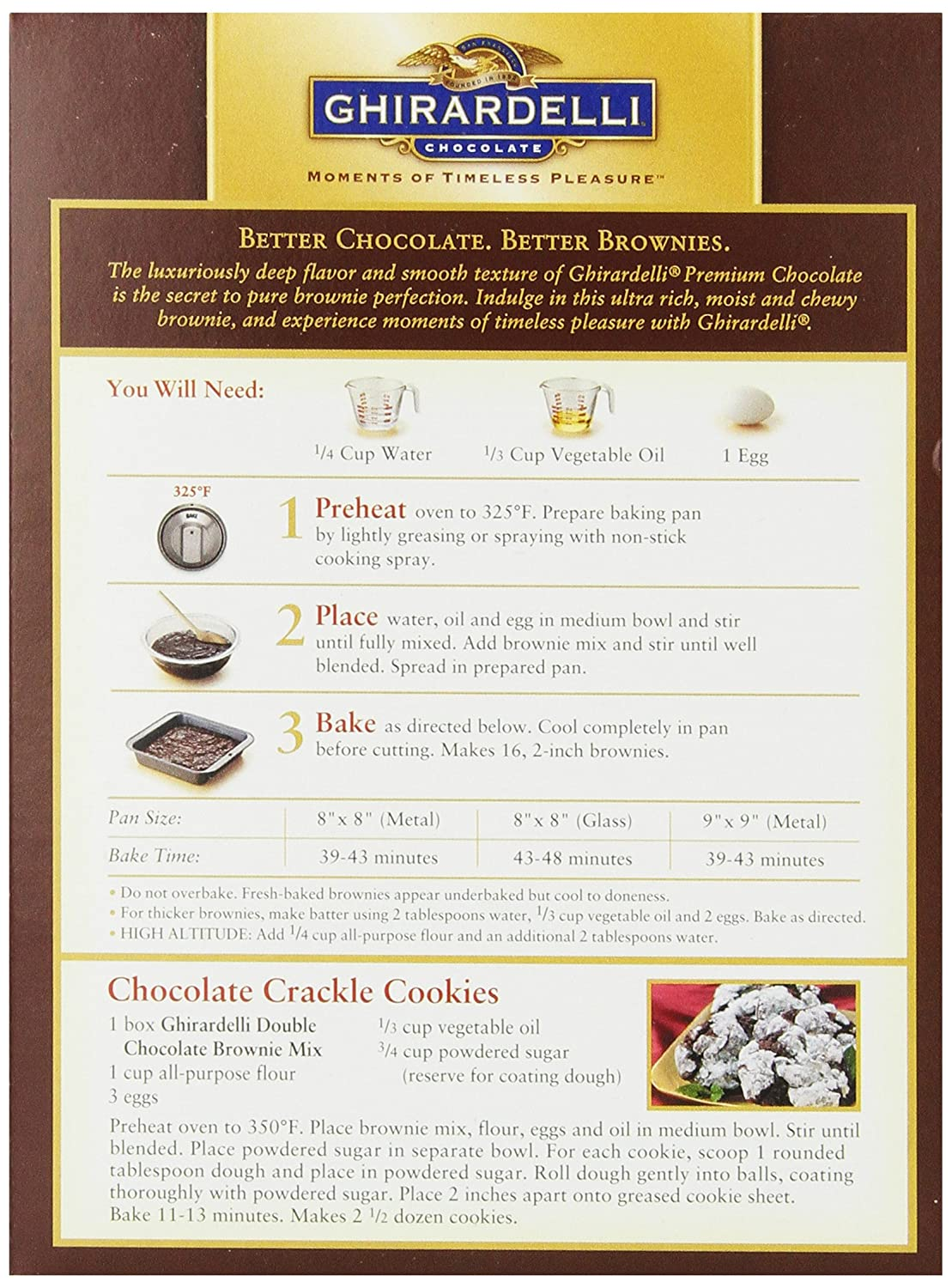 Ghirardelli Double Chocolate Cake Mix Ingredients