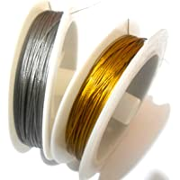Am Gear Wire Gold & Silver For Jewellery Making Pack Of 2