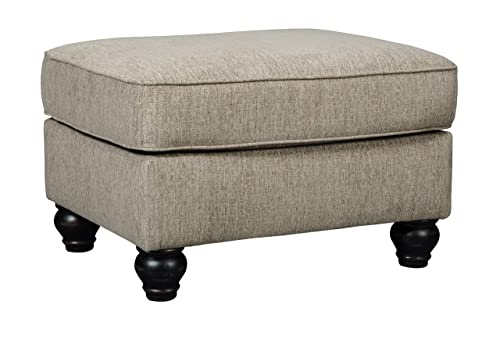 Signature Design by Ashley – Blackwood Traditional Style Accent Ottoman, Taupe