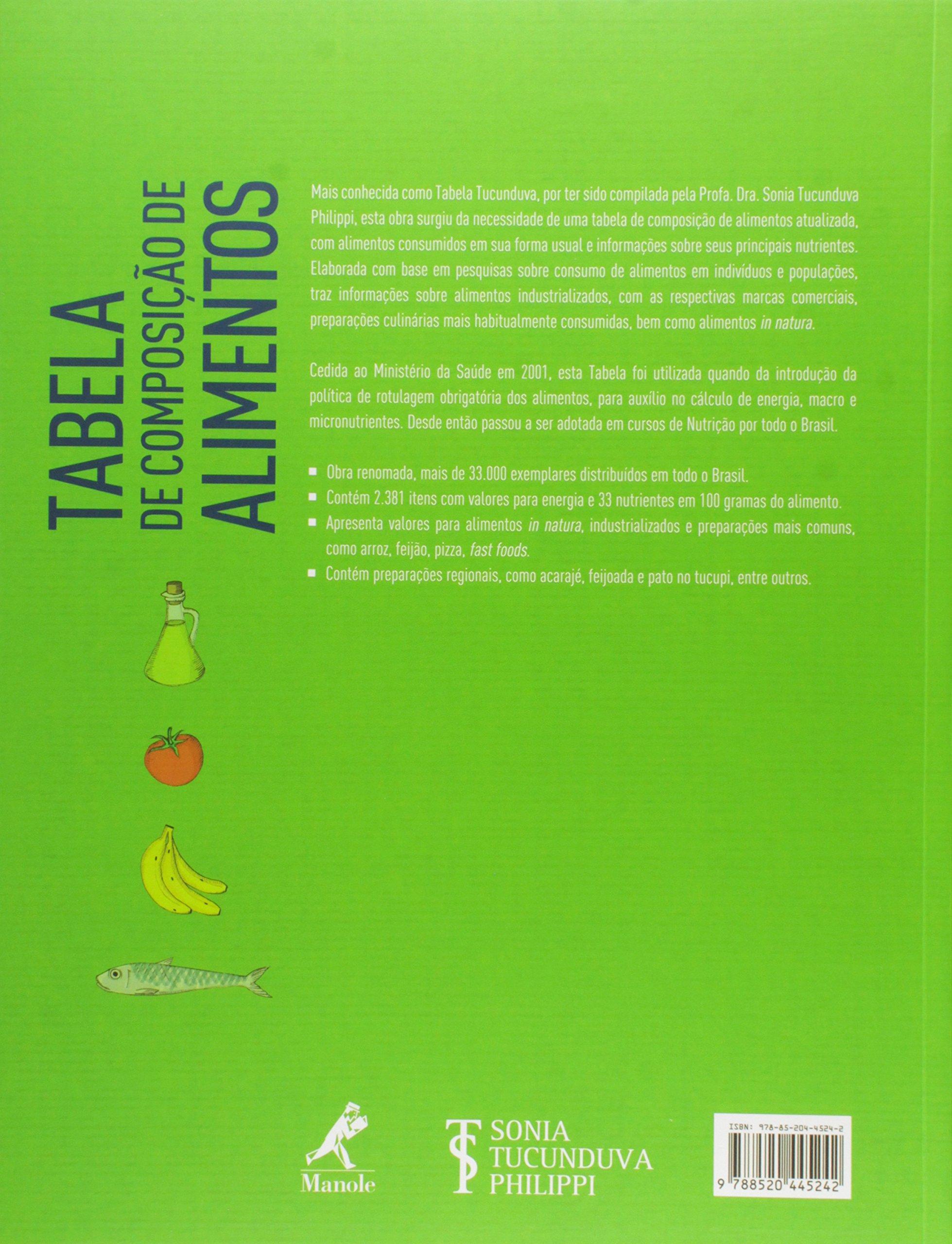 tabela de composio de alimentos sonia tucunduva para