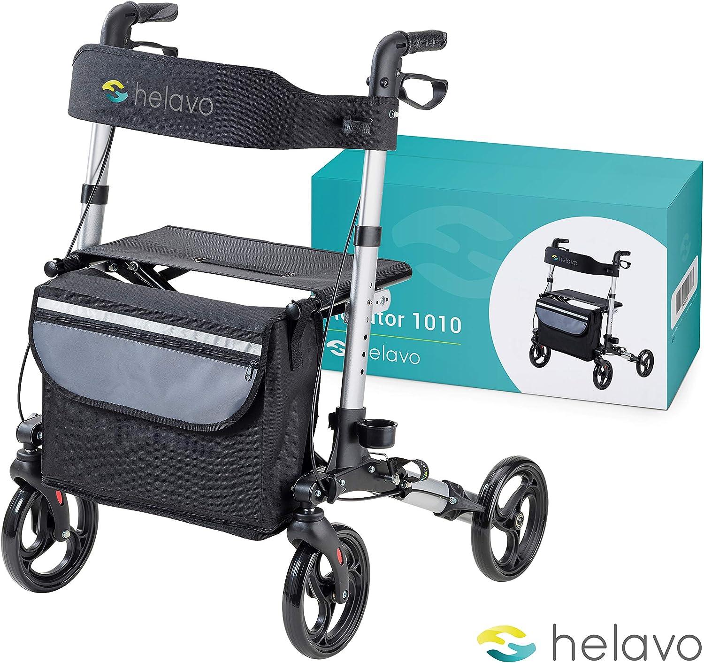 HELAVO - andador para ancianos - caminadores de aluminio plegables para mayores