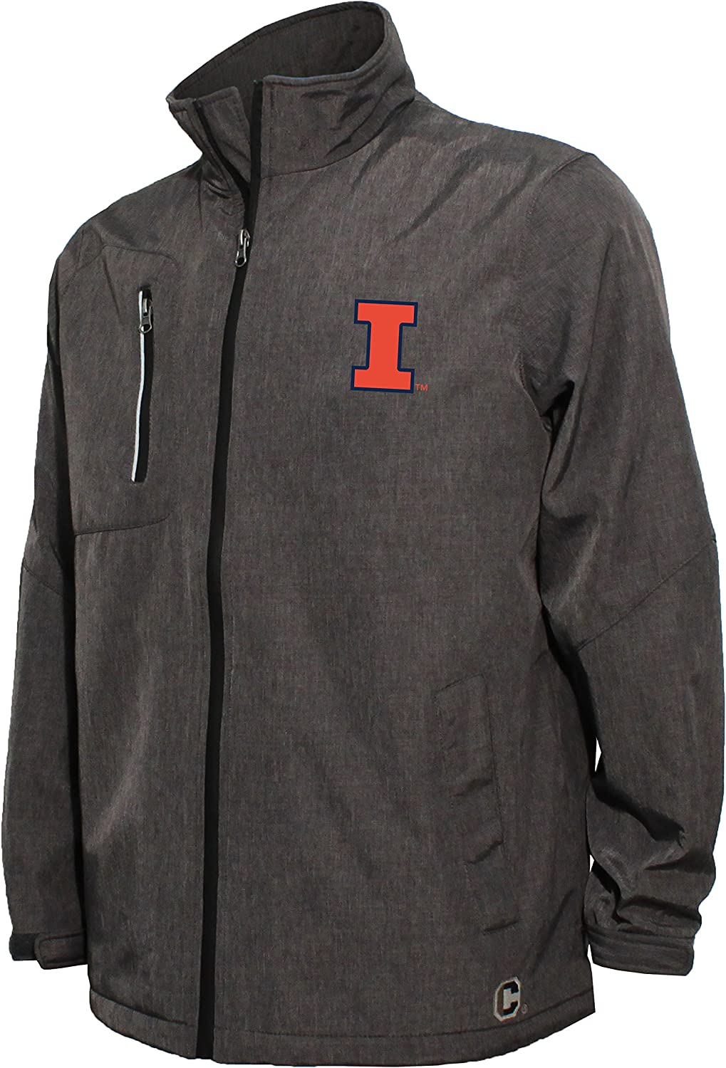 Crable Adult Men Bonded Stand Up Collar Stadium Jacket