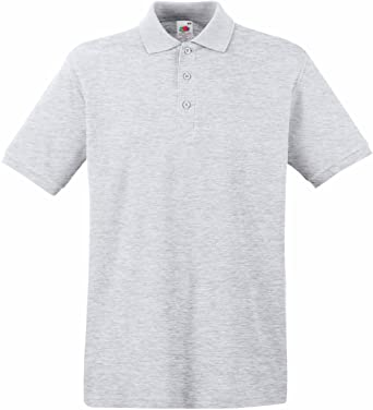 Fruit of the Loom - Polo - para Hombre Gris Gris Small: Amazon.es ...