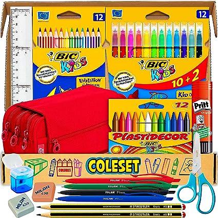 Estuche Escolar, Pack vuelta al cole y Pack material escolar - estuches escolar, utiles escolares kawaii, pinturas para niños y material escolar kawai