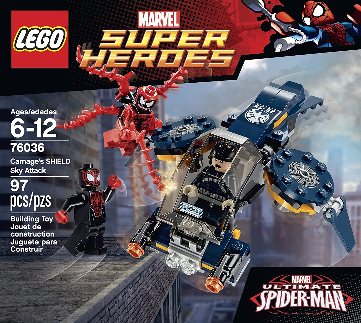 LEGO Super Heroes 76036 Carnage/'s Shield Sky Attack New