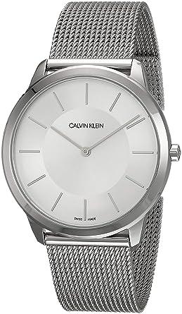 Calvin Klein K3M21126 - Reloj Analógico de cuarzo con correa de acero inoxidable, Mujer: Amazon.es: Relojes