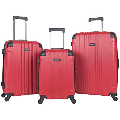 """Kenneth Cole Reaction Out Of Bounds 3-Piece Lightweight Hardside 4-Wheel Spinner Luggage Set: 20"""" Carry-On"""