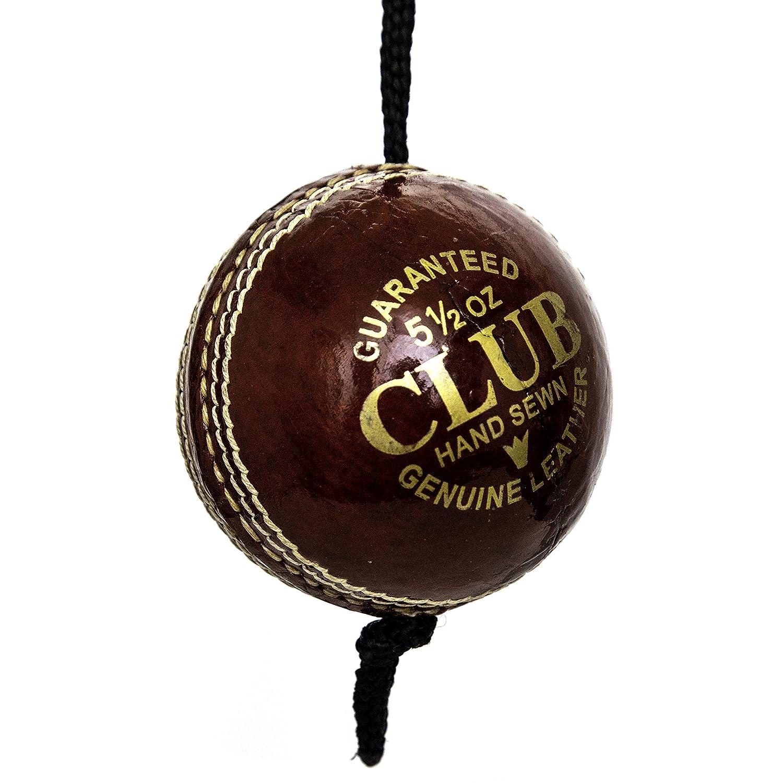 Pro Impact Leder Cricket Ball mit Seil (für Knocking und Praxis)