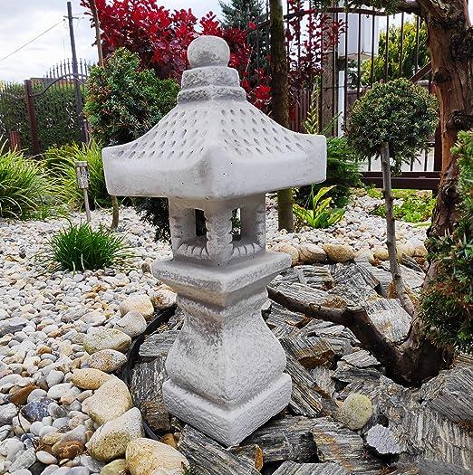 Decoración de Adornos de jardín - Pagoda/Linterna de Estilo japonés de Piedra TACHI-Gata-Oki: Amazon.es: Jardín
