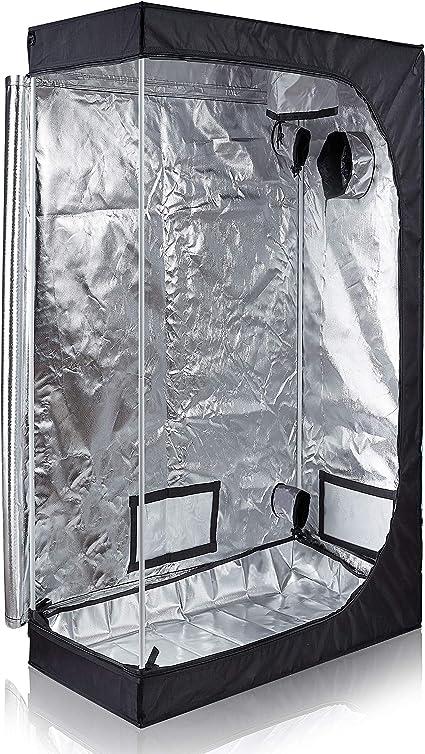 TopoLite 48x24x60 Grow Room 600D Reflective Mylar for Hydroponic Indoor Growing Plants w//Metal Corner//Viewing Window