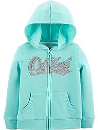 OshKosh B Gosh Girls  Toddler Full Zip Logo Hoodie 68c2b6c66