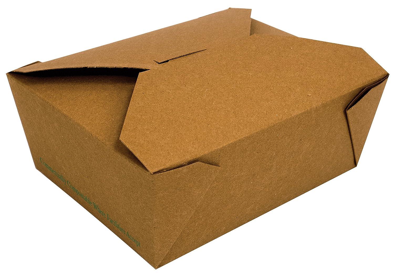 Fold-Pak 08BPTRAIIM BioPlus Terra II Food Container, Paper Compostable, 6