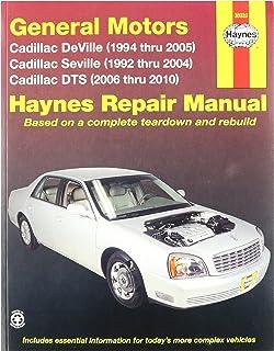 cadillac deville 99 05 seville 99 04 dts 06 10 rh amazon com 2004 cadillac seville sls owners manual 2005 Cadillac Seville