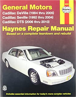 cadillac deville 99 05 seville 99 04 dts 06 10 rh amazon com 2000 cadillac deville repair manual pdf 2000 cadillac dts owner's manual
