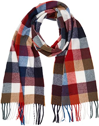 Gant Multicheck Lambswool Scarf, Echarpe Homme, Rouge (Bright Red), Taille  Unique 4c53ccd8ccf