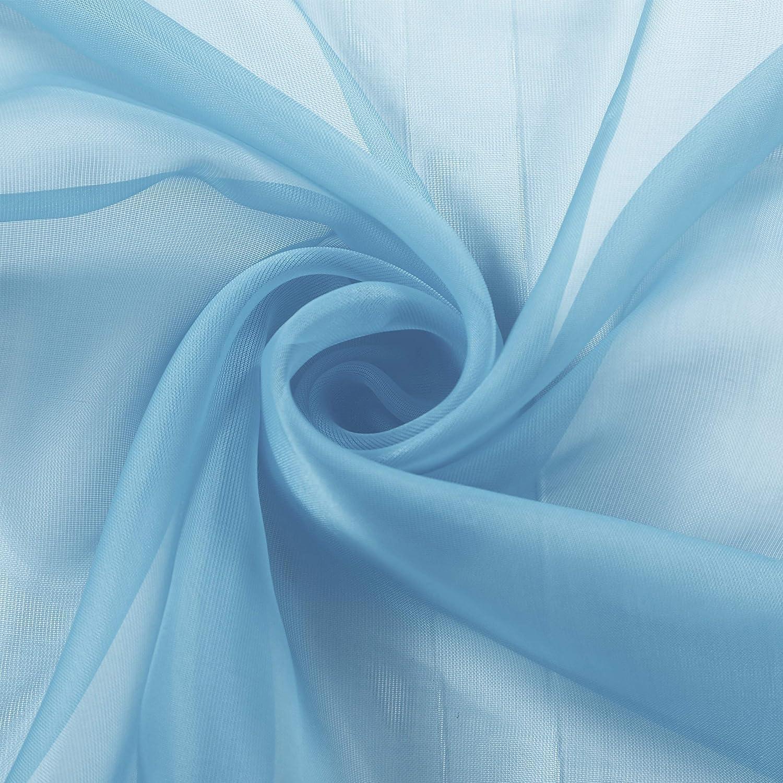 Assorted Colors GoodGram 2 Pack Ultra Luxurious High Woven Elegant Sheer Grommet Curtain Panels Grey GoodGram®