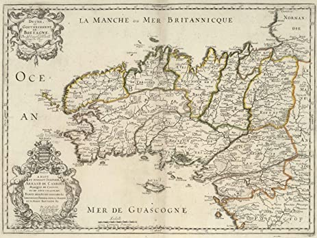 Amazon world atlas 1690 brittany france historic antique world atlas 1690 brittany france historic antique vintage map reprint gumiabroncs Gallery