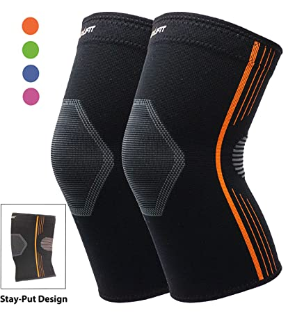 916c117379 Premium Knee Brace Bursitis Compression Knee Sleeve Stay-Put Breathable for  Running Basketball Crossfit Squats