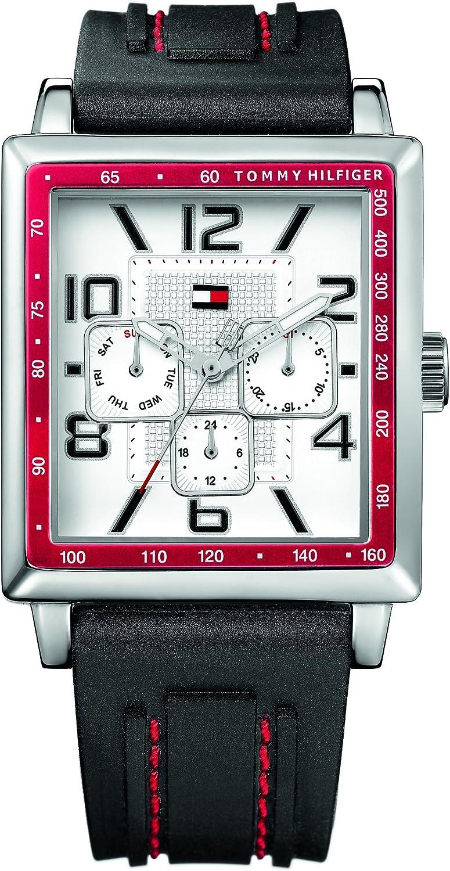 Tommy Hilfiger Watches 1790703 - Reloj de Mujer de Cuarzo, Correa de Caucho Color Negro