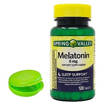 Amazon.com: Melatonin 5mg, 120 Tablets. Plus Free Bonus 1 mini Pill ...