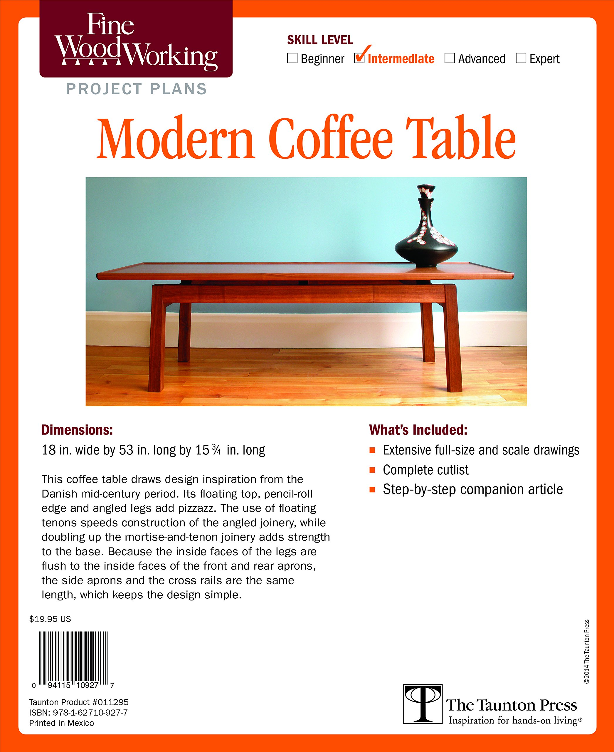 fine woodworking s modern coffee table