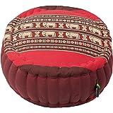 Kapok Dreams Zafu Round Meditation Cushion 100% Kapok, Thai Design Pillow