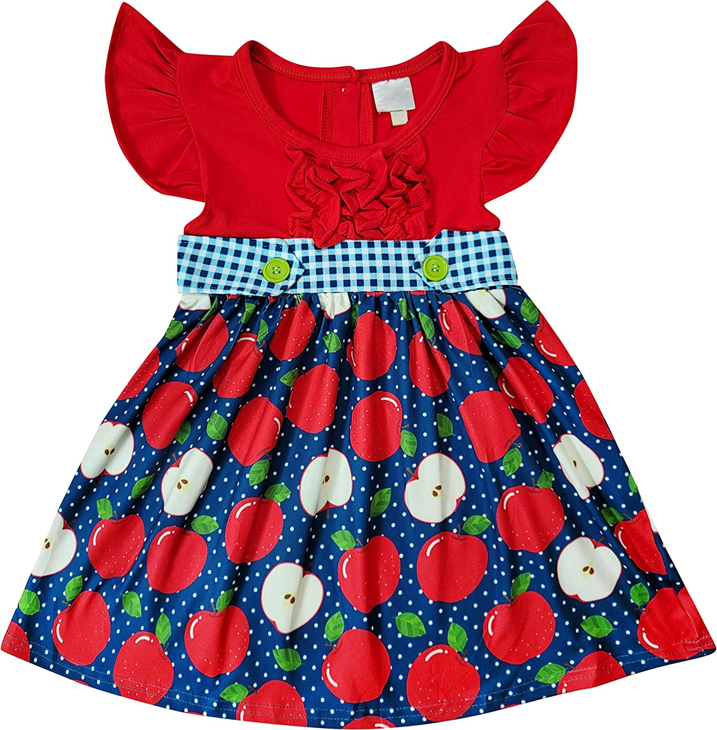 Toddler Little Girls Back to School Dress - Boutique Quality & Styles Apple, Pencil School Dresses
