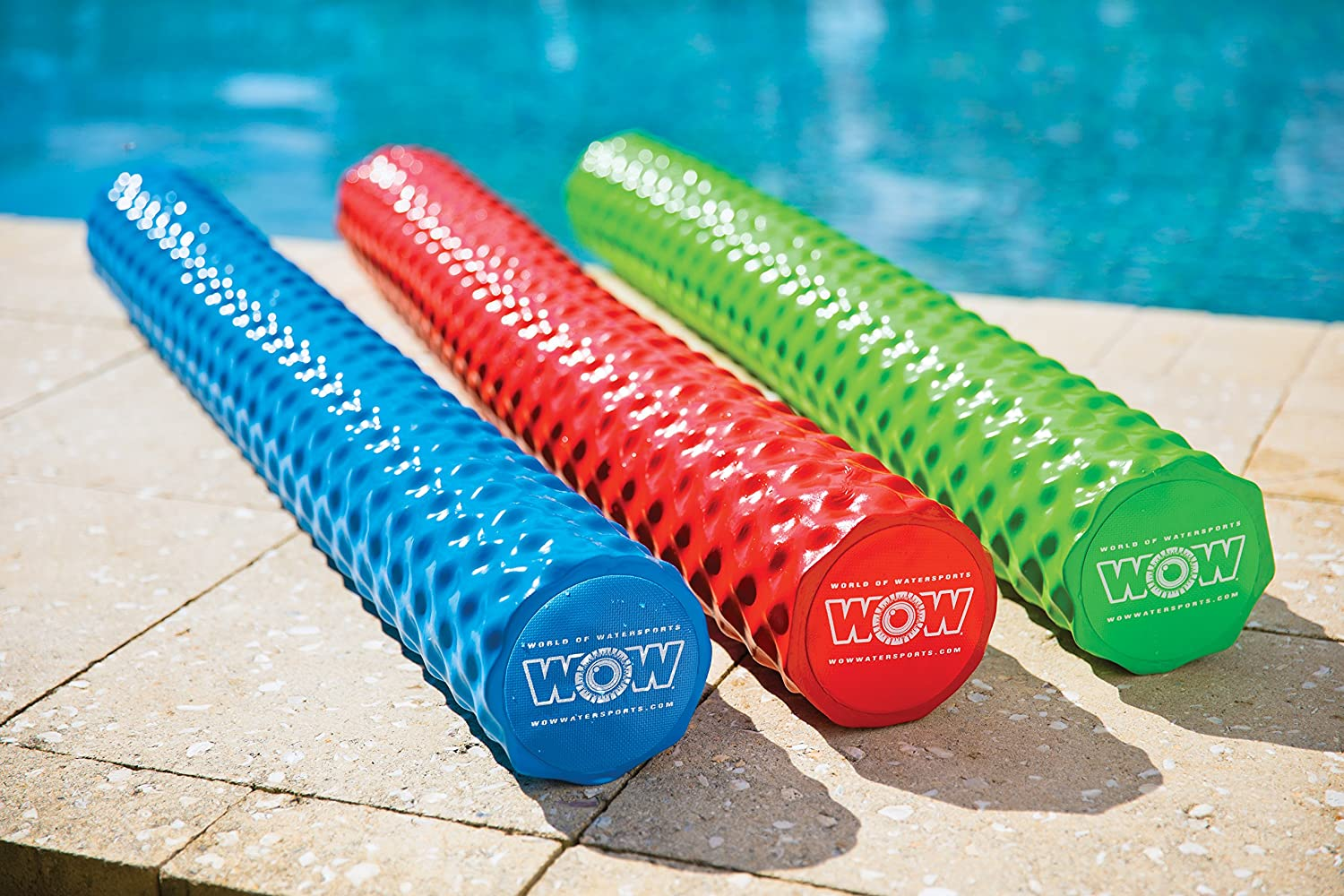 Com Wow World Of Watersports 17 2060b First Class Soft Dipped Foam Pool Noodle Blue Automotive