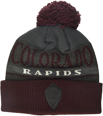 0d9aca471e7 Image Unavailable. MLS Colorado Rapids Men s Heathered Gray Cuffed Knit  Beanie with Pom